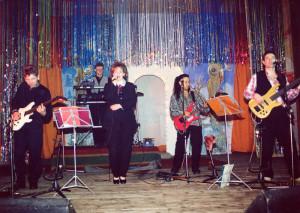 Звёздный состав «Календаря» на сцене «Горняка» 1998 г..