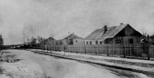Первые бараки на улице Ленина в Сосенском