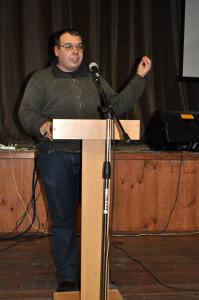Игорь Александрович Черняев на конференции в Козельске