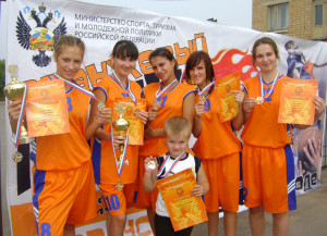 Баскетболистки Сосенского, 2010 год.