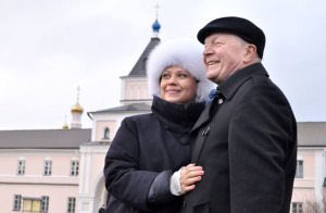 Борис Галкин и Инна Разумихина в Оптиной Пустыни