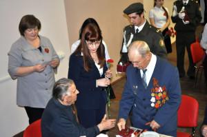 Вручение медалей ветеранам в Сосенском