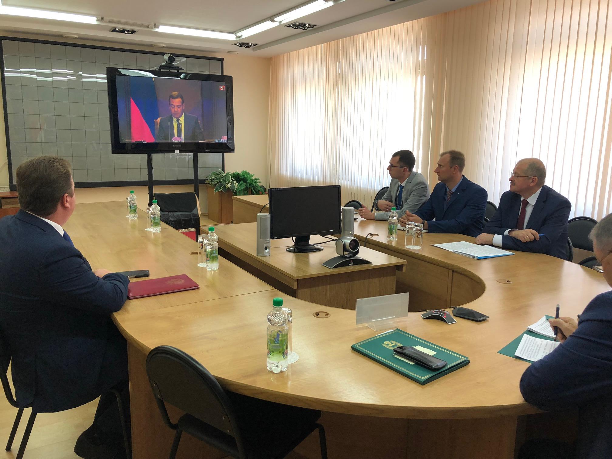 Председатель правительства РФ провел видеоселекторное совещание