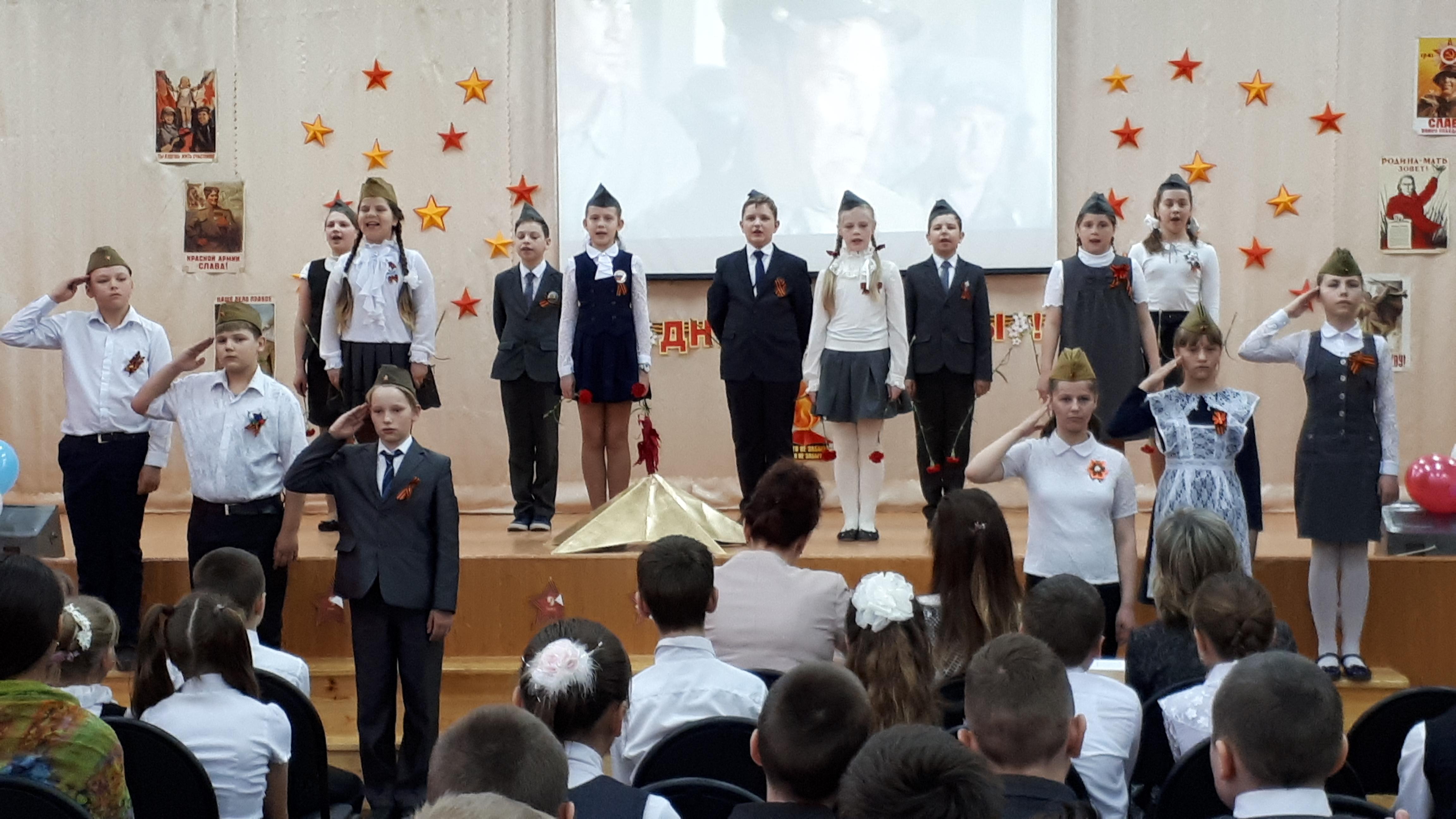 дети поют на фестивали